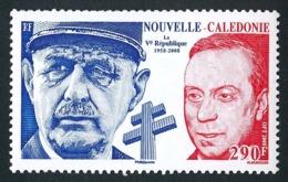 NOUV.-CALEDONIE 2008 - Yv. 1054 **   Faciale= 2,43 EUR - Ve République. De Gaulle Et Debré  ..Réf.NCE25638 - Nieuw-Caledonië