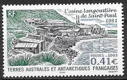 TAAF 2003 N°349 Neuf Usine Langoustière De St Paul - Terres Australes Et Antarctiques Françaises (TAAF)