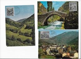 Lots De 6 Cartes Maximum Oblitéré Andorra - Oblitérés