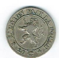 Belgique 20cent 1861 Leopold I - Belgien