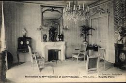 Cp Neuilly Sur Seine Hauts De Seine, Villa Leona, Innenansicht, Kamin, Kronleuchter - France
