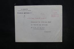 FRANCE - Enveloppe Du Ministre Délégué Au Conseil De L 'Europe ( Mitterrand ) Pour Orléans En 1953 - L 51494 - Poststempel (Briefe)