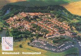 D38925 CARTE MAXIMUM CARD FD 2015 NETHERLANDS - FORTRESS CITY WILLEMSTAD AERIAL VIEW CP ORIGINAL - Architectuur