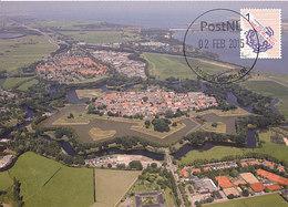 D38926 CARTE MAXIMUM CARD FD 2015 NETHERLANDS - FORTRESS CITY NAARDEN AERIAL VIEW CP ORIGINAL - Architectuur