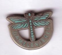 Q234 Pin's LIBELLULE DRAGONFLY  DAMELEVIERES Meurthe Moselle Qualité Arthus Non Signé Achat Immédiat - Animaux