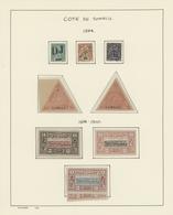 Französische Somaliküste: 1894/1958, A Splendid, Mainly Mint Collection On Album Pages, Comprising E - Oblitérés
