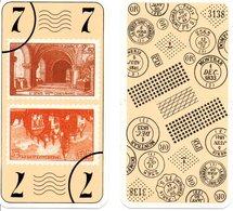 Tarot Carte à Jouer Timbre Stamp Basilique ST DENIS XIIIème Centenaire - - Front Perigueux  Playing Card - Tarots