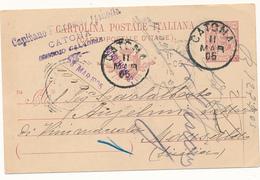 1905 CATONA REGGIO CALABRIA CERCHIO + CAPITANO SPINOLLA - Storia Postale