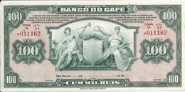 BRESIL 100000 REIS BANCO DO CAFE UNC P S541 - Brazil