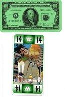 Tarot Carte à Jouer Timbre Stamp Dollar Monnaie Billet  Playing Card - Tarot