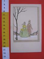 CA.16 ITALIA CARTOLINA CARD - 1920 CIRCA ED. GENOVA DISEGNO COPIA MODA ELEGANZA ALBERO NEVE - Moda