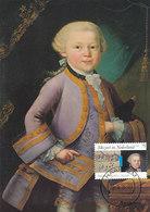 D38935 CARTE MAXIMUM CARD FD 2016 NETHERLANDS - COMPOSER MOZART CP SALZBURG ORIGINAL - Beroemde Personen