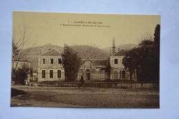 CAMBO-les-BAINS-l'etablissement Thermal Et Les Monts-offerte Par Chocolat Vinay-papier Glace-Vue Rare Sous Cet Angle - Cambo-les-Bains