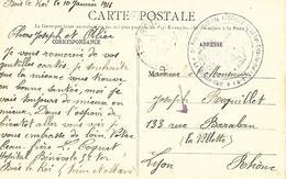77-cachet Hôpital Bénévole N°52 Ter à Bois-le-Roi Sur Belle CP En 1916- Cachet Très Rare - Postmark Collection (Covers)