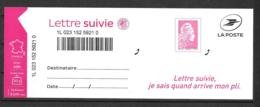 2019 - Lettre Suivie Marianne L'Engagée - Adhesive Stamps