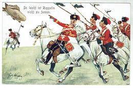 So Leicht Ist Zeppelin Nicht Zu Fassen- Bon état- Illustration Par Fritz Schönberg - Ref. LMV ( - Humour