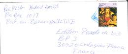 HAITI Lettre De PORT AU PRINCE Sujet Religieux La Vierge Et L'Enfant De Francisco Mazzola - Haïti