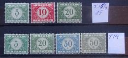 BELGIE   Strafport  1919   Tx  26 - 31   Tand. 14 1/2 - 15 En Tand. 14   Zie Foto    Scharnier *    CW  40,00 - Tasse