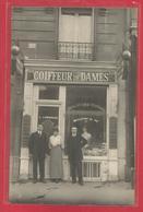 Carte Postale Photo - Commerce - Coiffeur De Dames - J Lamarque - Ondulations Au Fer - Handel