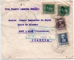 Espagne : Lettre De 1938 Pour La France Avec Censure De Salamanca - 1931-Aujourd'hui: II. République - ....Juan Carlos I