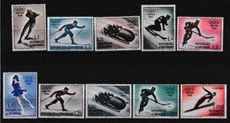 1955 San Marino Saint Marin CORTINA OLIMPIADI INVERNALI SPORT Serie Di 10 Valori MNH** OLYMPICS - Hiver 1956: Cortina D'Ampezzo