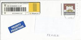 """AUTRICHE Prêt à Poster PAP """" WIENER SECESSION """" Lettre Recommandée Oblitérée Innsbruck 2004 - Entiers Postaux"""
