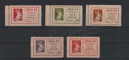 1943-45 Patrioti Valle Bormida 5 Val. S.G. - 5. 1944-46 Lieutenance & Umberto II