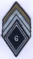 Insigne Losange De Bras + Galons De Caporal De La 6e Compagnie De Commandement Et De Transmissions - Ecussons Tissu