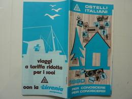 "Pieghevole Turistico ""OSTELLI ITALIANI 1980"" - Dépliants Turistici"
