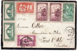 Algérie : Affranchissement Composé Sur Lettre De 1936 Pour La France - Lettres & Documents