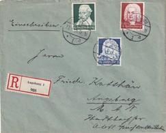 ALLEMAGNE 1935  LETTRE RECOMMANDEE DE AUGSBURG - Storia Postale