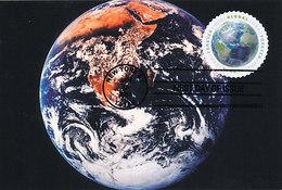 D38946 CARTE MAXIMUM CARD FD 2013 USA - GLOBE EARTH - ROUND STAMP CP ORIGINAL - Aardrijkskunde