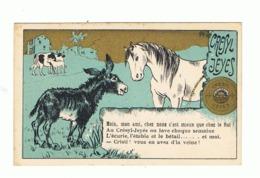 Chromo Publicitaire - Désinfectant, Savon CRESYL - JEYES - Cheval, âne,... (fr82) - Cromo