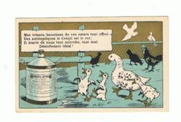 Chromo Publicitaire - Désinfectant, Savon CRESYL - JEYES - Canard, Poule, Coq, Colombe, Pigeon,... (fr82) - Chromos