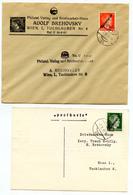 Austria 1945 Österreich Overprinted Hitler Stamps FD Postmarked On Letter/postcard B200120 - 1945-.... 2ª República