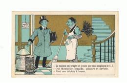 Chromo Publicitaire - Désinfectant, Savon CRESYL - JEYES - Concierge (fr82) - Cromos