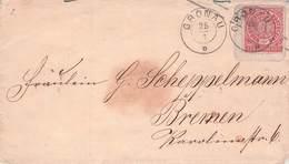 NORDDT. POSTBEZIRK - BRIEF GRONAU -> BREMEN /AK210 - Norddeutscher Postbezirk (Confederazione Germ. Del Nord)