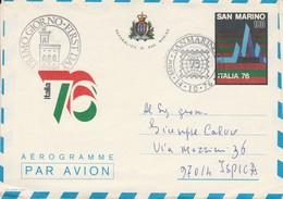 1976 REPUBBLICA SAN MARINO AEREOGRAMME ITALIA 76 - LEGGI - Buste