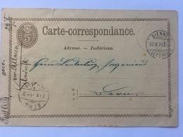 Switzerland Carte Postale 1874 Bienne To Bern - Briefe U. Dokumente