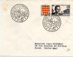 Dijon 1957 - BT Foire Gastronomique - Don Quichotte & Sancho Pança - Cervantès - Cavalier Cheval - Marcophilie (Lettres)