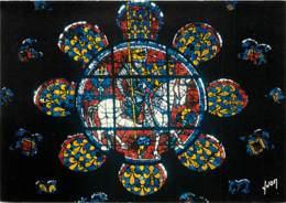 Art - Vitraux Religieux - Chartres - Cathédrale Notre-Dame - Petite Rose Du Chœur Représentant Louis De France Fils De P - Tableaux, Vitraux Et Statues