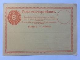 Switzerland Carte Postale 1870`s Unused 5 Centimes Rate - 1862-1881 Sitzende Helvetia (gezähnt)