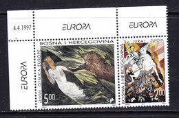 Europa Cept 1997 Bosnia/Herzegovina Mostar 2v (corner, Issue Date) ** Mnh (46075) - 1997
