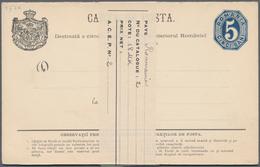 Rumänien - Ganzsachen: 1873/1981, Accumulation Of Ca. 710 Unused Postal Stationery Cards And Envelop - Ganzsachen