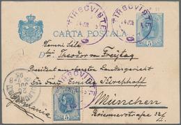 Rumänien - Ganzsachen: 1879/1981, Accumulation Of Ca. 300 Unused Postal Stationery Cards And Envelop - Ganzsachen