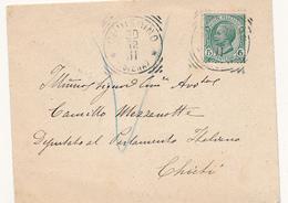 1911 CHIUSDINO SIENA TOSCANA TONDO RIQUADRATO - Storia Postale