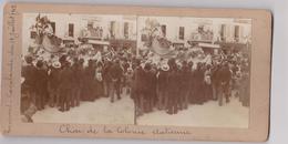Photo Vue Stéréo  ROMANS Cavalcade  Carnaval Char De La Colonie Italienne 1902 - Stereo-Photographie