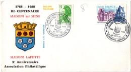 Maisons-Lafitte 1988 - BT Bicentenaire - Marcophilie (Lettres)