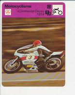 Continental Circus 1974 Giacomo Agostini GP Hollande 1974 Fiche Motocyclisme Sport FICH-Moto2 - Sports