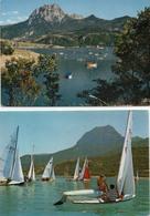 Serre Ponçon ; 3 Cartes Baie St Michel Regates - France